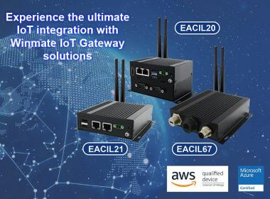 Winmate IoT Gateways are Microsoft Azure IoT & AWS IoT Greengrass Certified